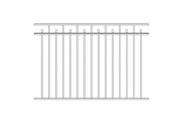 Alumi-Guard Canterbury 3-Channel Flush Bottom Aluminum Fence
