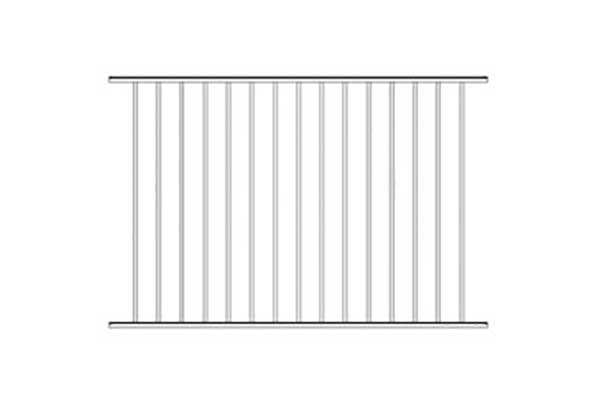 Alumi-Guard Ascot 2-Channel Flush Bottom Aluminum Fence