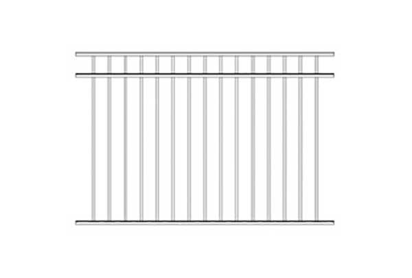 Alumi-Guard Ascot 3-Channel Flush Bottom Aluminum Fence