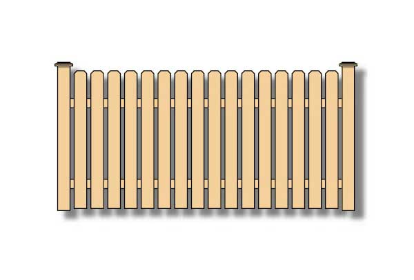 dog ear picket wood fence