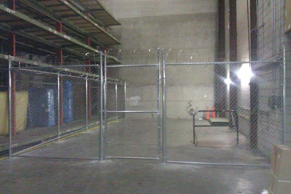 indoor galvanized chain link fence