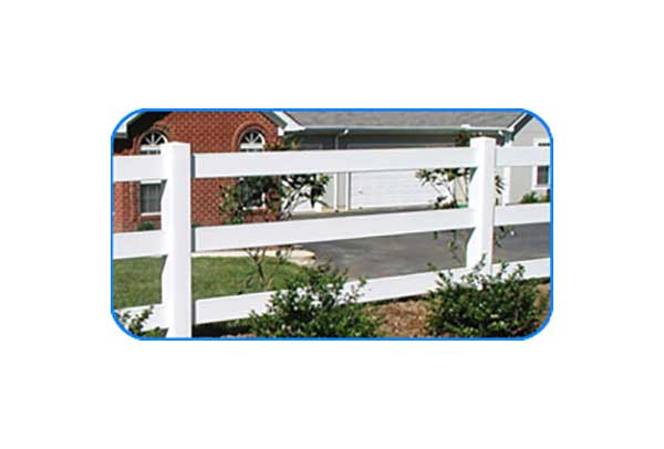 3-rail vinyl board fence