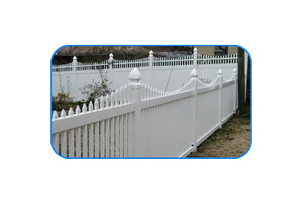 new englan narrow vinyl picket fence